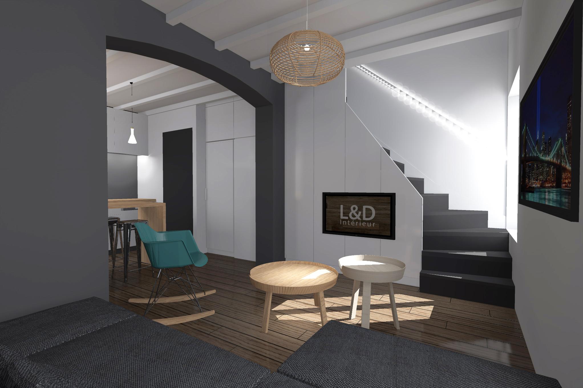 restructuration compl te d une maison individuelle l d. Black Bedroom Furniture Sets. Home Design Ideas
