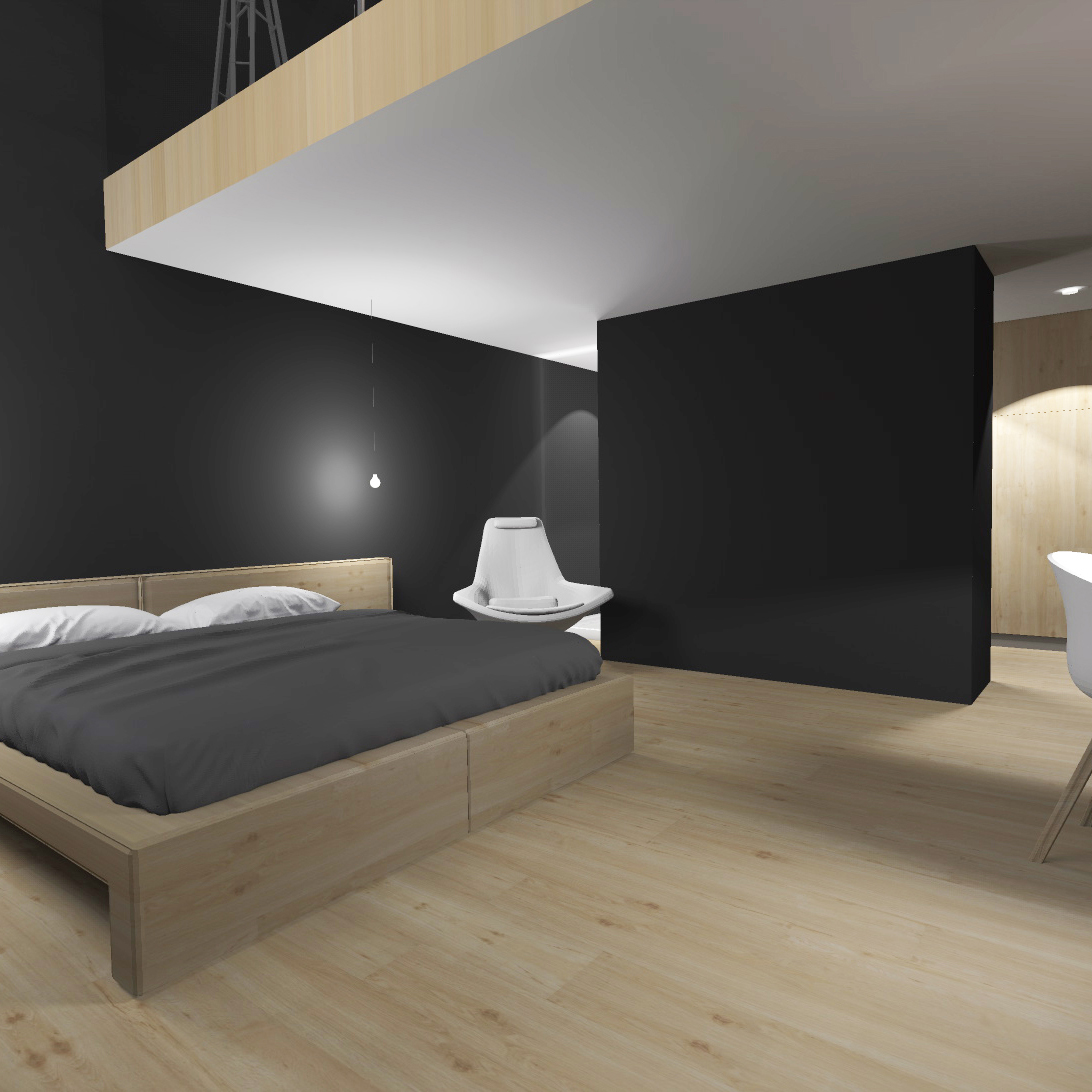 louise delabre architecte interieur ldinterieur loft amenagement d coration bois parquet gris. Black Bedroom Furniture Sets. Home Design Ideas