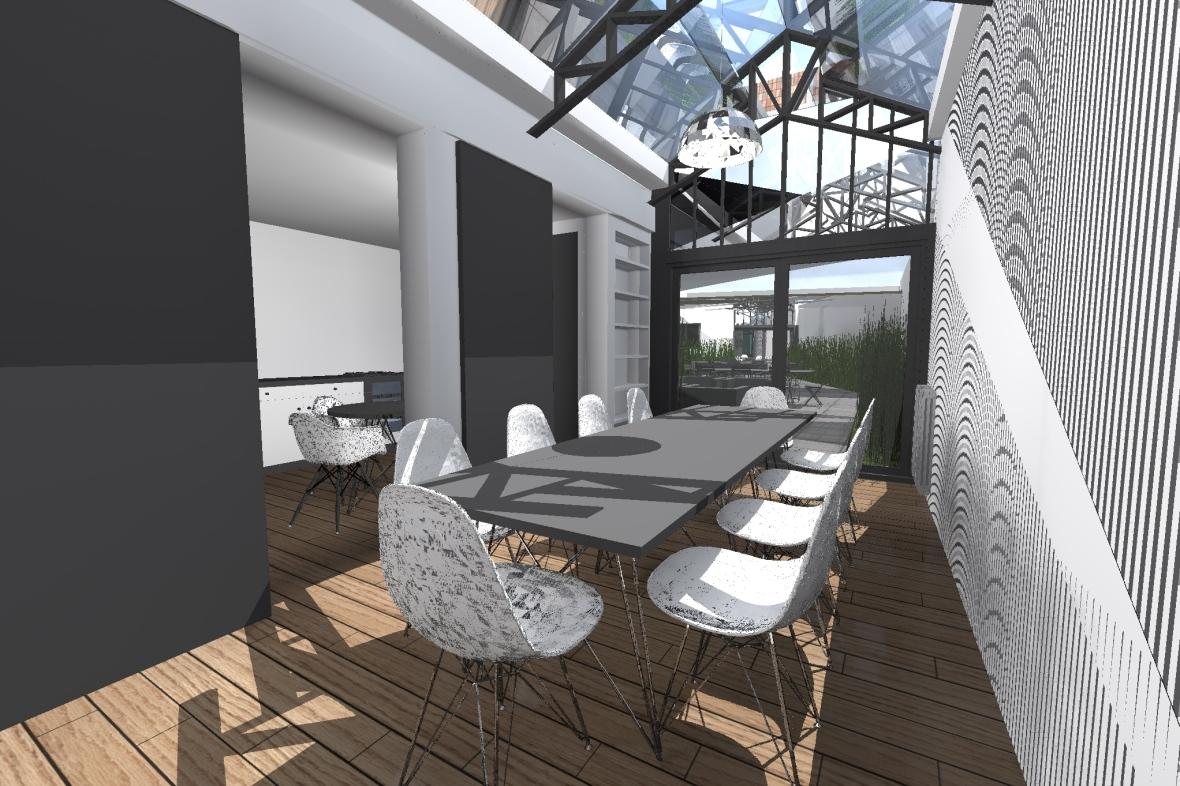 Agrandissement dun sejour jardin hiver cour cuisine salon salle manger verriere restructuration - Cabinet dentaire mutualiste roubaix ...