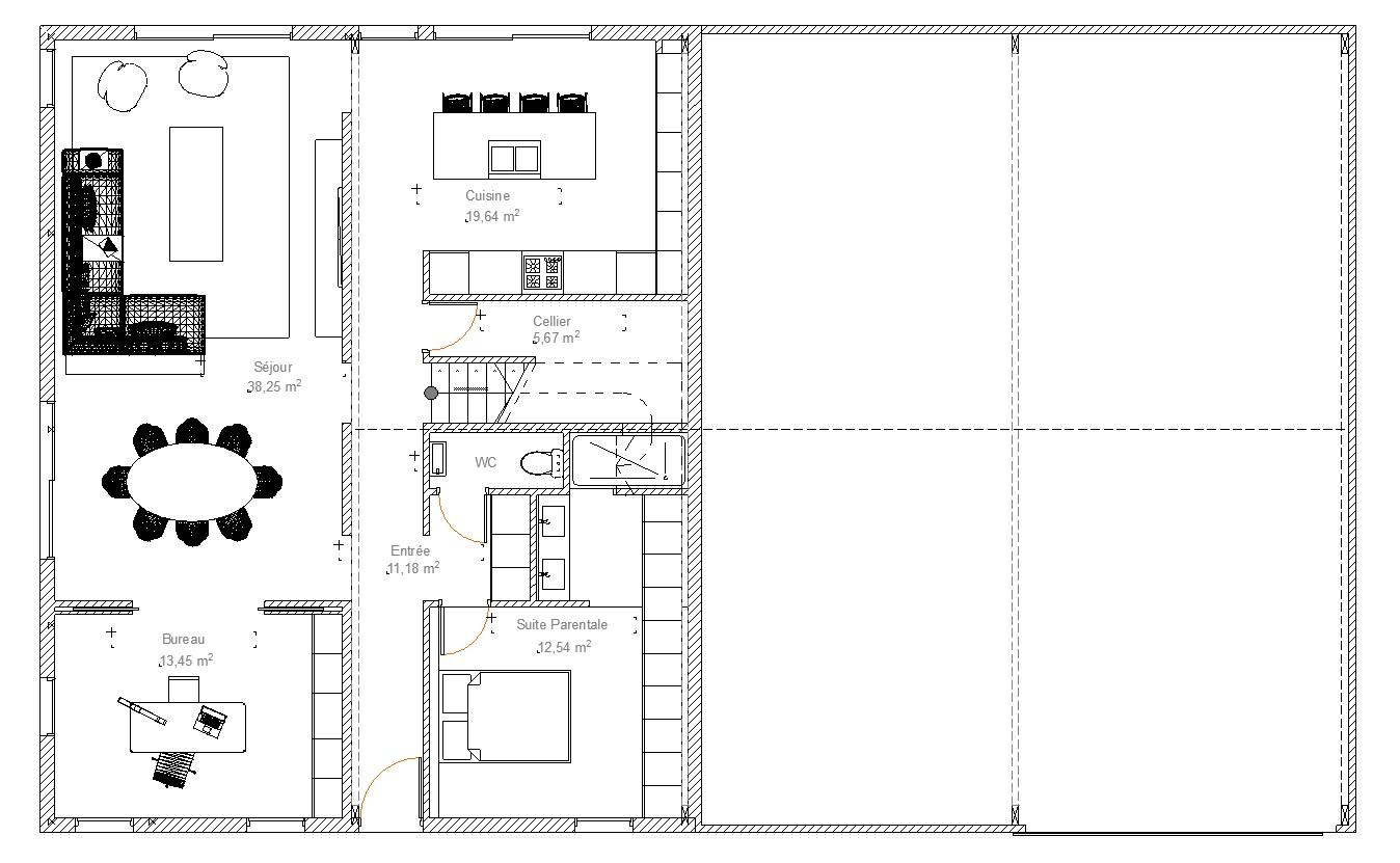 Transformation d un hangar en loft l d int rieur for Plan de hangar