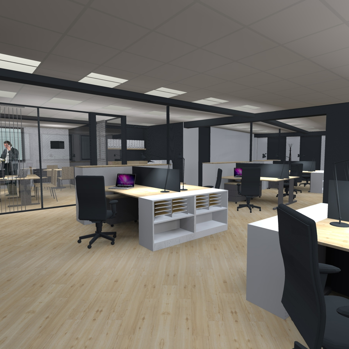 Amenagement de bureaux l d int rieur for Bureau decoration d interieur