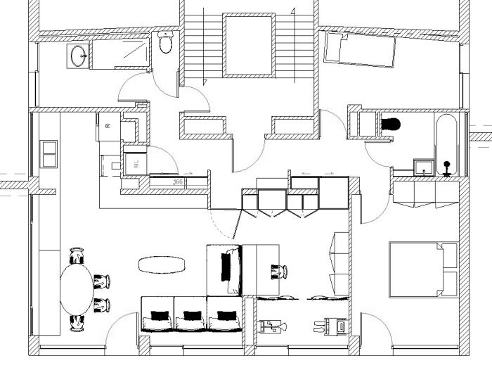 r novation d un appartement l d int rieur. Black Bedroom Furniture Sets. Home Design Ideas