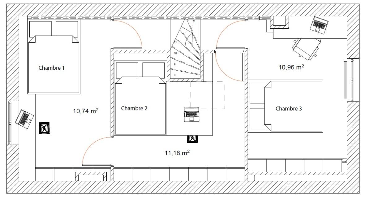 optimiser espace chambre enfant comble d l d int rieur. Black Bedroom Furniture Sets. Home Design Ideas